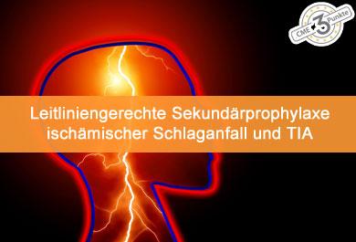 Leitliniengerechte Sekundärprävention Schlaganfall und TIA